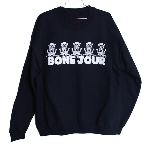 $25.00 Bone Jour Sweatshirt Select Size (S-XL) by burgerandfriends on Etsy