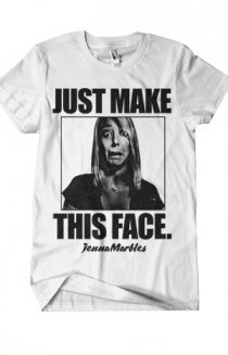 The Face (White) T-Shirt - JennaMarbles T-Shirts -  Online Store on District Lines