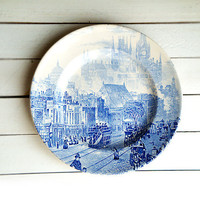 Plate Blue , London city ,Staffordshire ,England