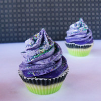 Blackberry Sage Mini Cupcake Soap for by PitterPatternDesigns
