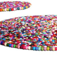 FREE Shipping 65ft Gumball Rug Round Felt by Crafttasticparties