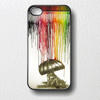 Rain of Colors  Melting Crayons Iphone 4 Case, i Phone 4 4s Iphone Case 4 & 4s