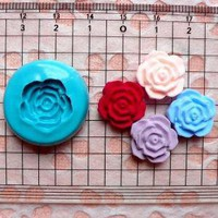 Mold / Mould  Flexible Flower / Rose Mold 15mm by MiniatureSweet