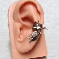Sparrow Forest Leaf Ear Cuff ' left ear '