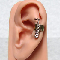 Saxophone Musical Ear cuff