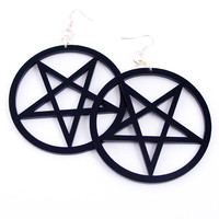 Tequila Star — Pentagram Earrings