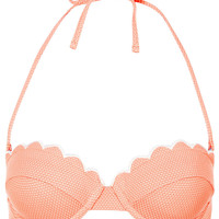 Tangerine Scallop Bikini Top - Swimwear - Clothing - Topshop