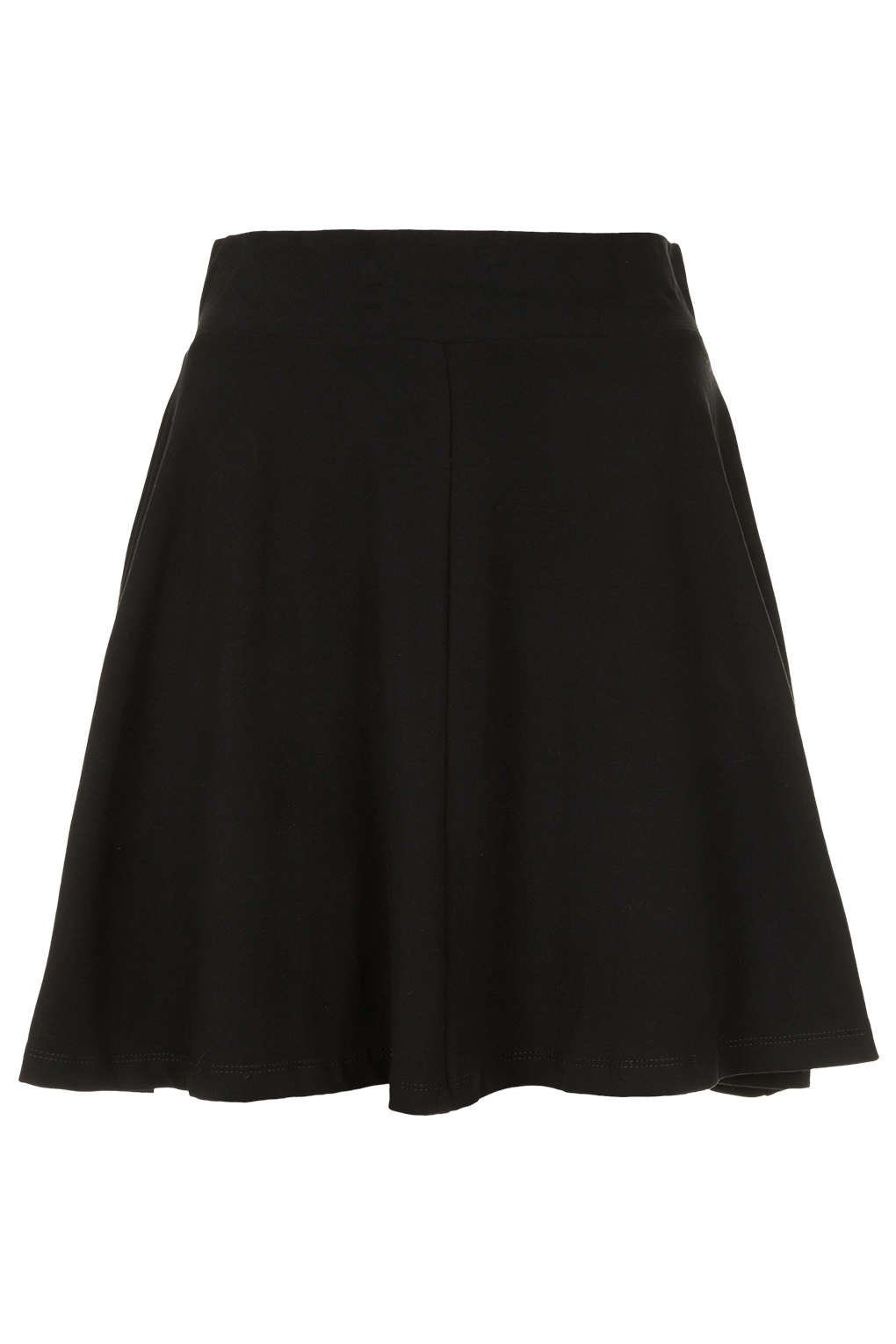 Black High Waist Skater Skirt - Skirts - from TOPSHOP