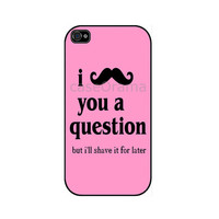 MUSTACHE pink iPhone 4 iPhone 4 case iPhone 4S case by caseOrama