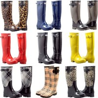 Women's Flat Wellies Rubber Rain & Snow Boots RainBoots:Amazon:Shoes