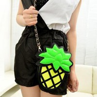 Cute Pineapple Shape Cross Body Bag-j OA033