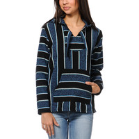 Senor Lopez Girls Black Purple & Mint Stripe Poncho at Zumiez : PDP