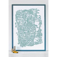 Famille Summerbelle New York Map Print | Folly Home | Design-led Gifts, Home wares, Vintage Finds