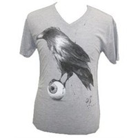 Raven by Kenn Olsen Tattoo V Neck T Shirt
