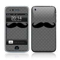 Apple iPhone 3G / 3GS Decal Skin Mustache by skunkwraps on Etsy