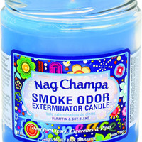 13oz. Nag champa Smoke Odor Exterminator Jar Candle Made in USA - CA12