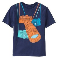 NWT Gap Kids Boys Photo Camera Lens Zoom SLR Photography Graphic Tee T-Shirt