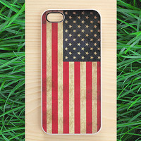 Americana iPhone 5 case, iPhone 4 case, iPhone 4S case - vintage American flag print
