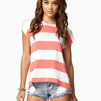 Split Back Striped Tee | FOREVER21 - 2058315916