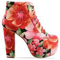 Jeffrey Campbell Lita Fab in Flowers at Solestruck.com