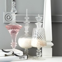 Hand-Blown Glass Decanters - Set of 3
