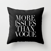 VOGUE Throw Pillow by natalie sales
