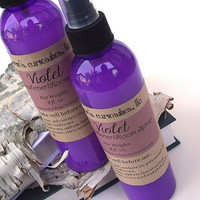 Violet scented Room Spray - Scented Linen Spray -- 8 ounce Bottle