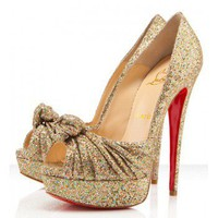 Christian Louboutin Jenny Pump 150mm Gold