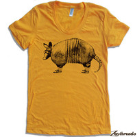 Womens ARMADILLO  TShirt american apparel S M L XL by ZenThreads
