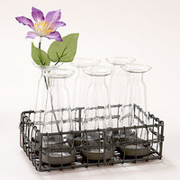6 Bud Vases with Wire Caddy | Shop by Category| Mother's Day | World Market