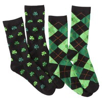 Xhilaration® Juniors St. Patrick's Day Crew Socks - Assorted Colors/Patterns One Size Fits Most