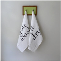 Team Towels  tea towel set of 2  fair trade by blackbirdtees