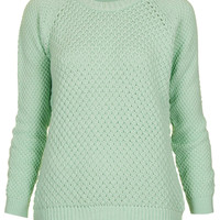 Knitted Moss Stitch Jumper - Jumpers - Topshop