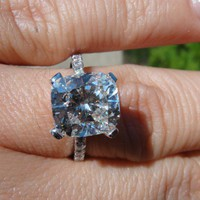 Have You Seen the Ring?: 3.47 G vs1 cushion Solitaire