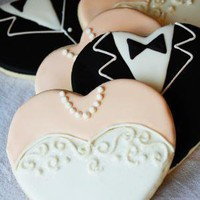 Gown and Tuxedo Hearts by LindasEdibleArt on Etsy
