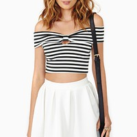 Frenchie Stripe Crop Top
