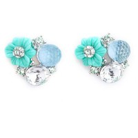 Enchanted Flower Stud Earrings: Charlotte Russe