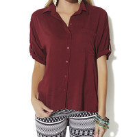 3/4 Sleeve Big Shirt | Shop Biker Babe at Wet Seal