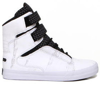 DJPremium.com - Men - Shop by Brand - Supra - Shoes - Sneakers - Society White Painter Suede/Black Nylon Sneakers