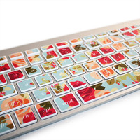 Macbook Keyboard Stickers Rose Floral Decal