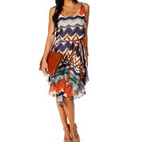 Multi Belted Hi lo Dress