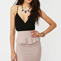 Wrapped Peplum Dress in Clothes Dresses Party at Nasty Gal