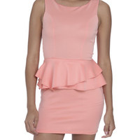 Scuba Peplum Shift Dress | Shop Dresses at Arden B
