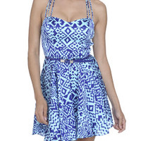 Geo Ikat Skater Dress | Shop Dresses at Arden B