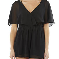 Surplice Flutter Chiffon Romper | Shop Jumpsuits & Rompers at Arden B