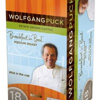 Wolfgang Puck WP791016 Breakfast in Bed Medium Roast Single Cup Coffee Pods, 108-count