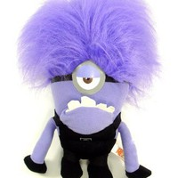 "Despicable Me 2 - Evil ONE EYED Purple Minion 10"" Plush"