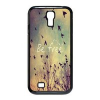 Treasure Design Be Free Birds Cute Quote Retro Vintage Samsung Galaxy S4 9500 Best Durable Case