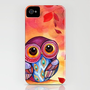 Owl's First Fall Leaf iPhone Case by Annya Kai | Society6
