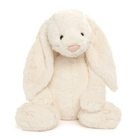 "Bashful Large Cream Bunny 16"" by Jellycat"